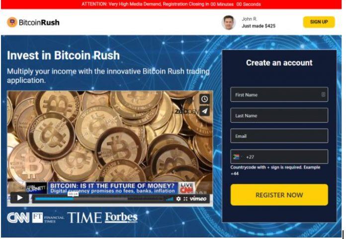 بررسی پلتفرم Bitcoin Rush